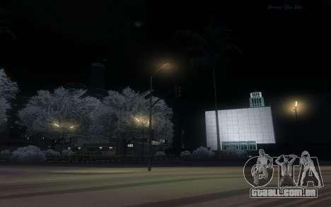 Snow Mod para GTA San Andreas por diante tela