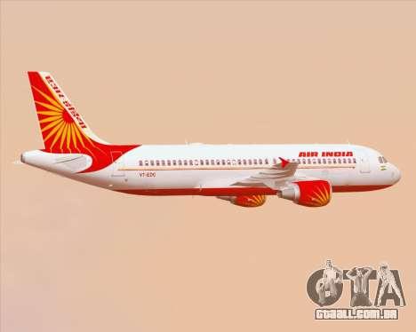 Airbus A320-200 Air India para as rodas de GTA San Andreas