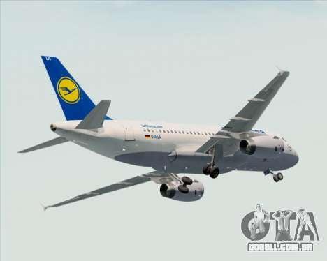 Airbus A319-100 Lufthansa para as rodas de GTA San Andreas