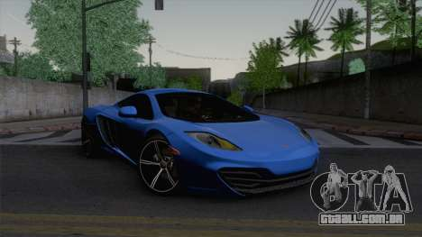 McLaren MP4-12C Gawai v1.5 HQ interior para GTA San Andreas