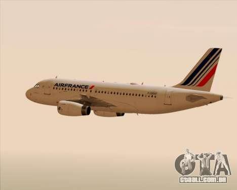Airbus A319-100 Air France para o motor de GTA San Andreas