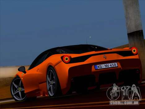 Ferrari 458 Special para GTA San Andreas esquerda vista