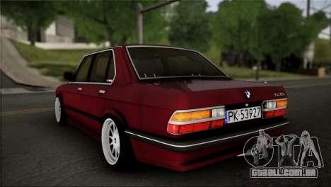 BMW M5 E28 para GTA San Andreas esquerda vista