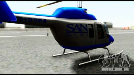 Beta News Maverick para GTA San Andreas traseira esquerda vista
