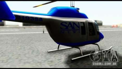 Beta News Maverick para GTA San Andreas traseira esquerda vista