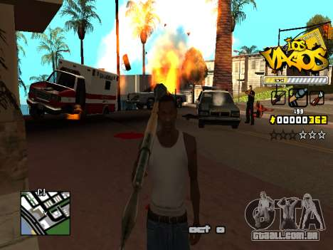 C-HUD Los Santos Vagos Gang para GTA San Andreas sexta tela