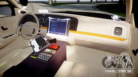 Ford Crown Victoria Ontario Police [ELS] para GTA 4 vista de volta