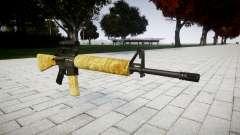 O M16A2 rifle [óptica] ouro