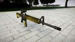 O M16A2 rifle [óptica] de azeite