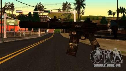 HoneyBadger from CoD Ghosts v2 para GTA San Andreas
