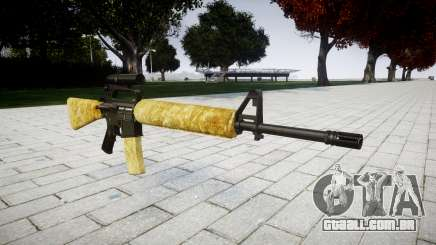 O M16A2 rifle [óptica] ouro para GTA 4