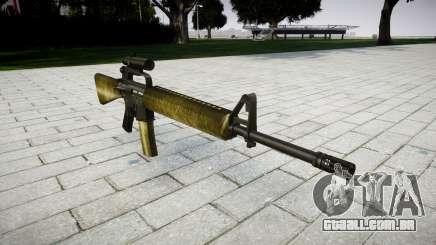 O M16A2 rifle [óptica] de azeite para GTA 4