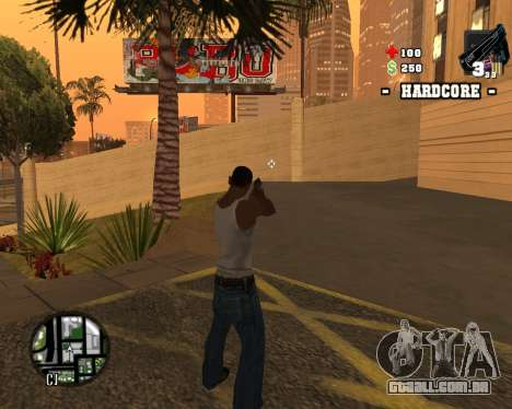 C-HUD Hardcore para GTA San Andreas por diante tela