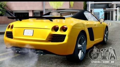 GTA 5 Obey 9F Cabrio IVF para GTA San Andreas esquerda vista