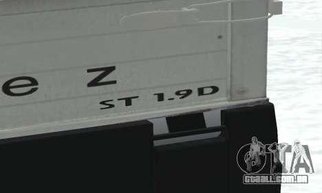 Daewoo FSO Polonez Truck Plus ST 1.9 D 2000 para GTA San Andreas vista interior
