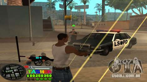 C-HUD Tasher para GTA San Andreas quinto tela