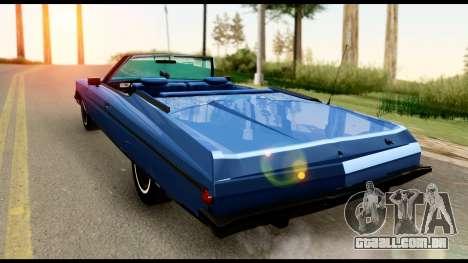 Chevy Caprice 1975 Beta v3 para GTA San Andreas esquerda vista
