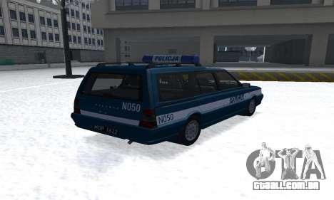 Daewoo-FSO Polonez Kombi 1.6 GSI Police 2000 para GTA San Andreas traseira esquerda vista