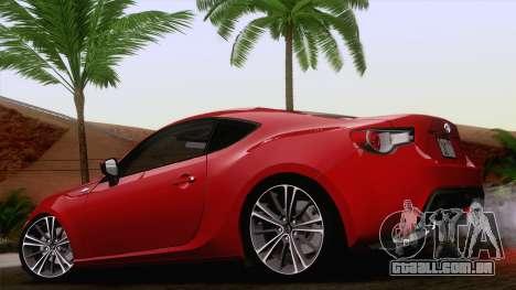 Toyota GT86 (ZN6) 2012 para GTA San Andreas esquerda vista