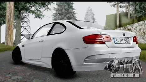 BMW M3 E92 Hamann Edition para GTA San Andreas esquerda vista
