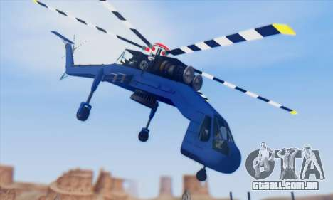 Skylift from GTA IV TBOGT para GTA San Andreas vista traseira