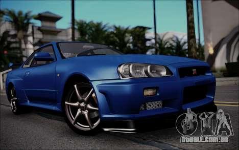 Nissan Skyline GT-R V Spec II 2002 para GTA San Andreas esquerda vista