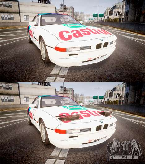 BMW E31 850CSi 1995 [EPM] Castrol White para GTA 4 vista lateral
