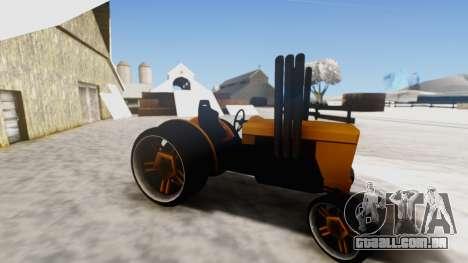 Tractor Kor4 v2 para GTA San Andreas traseira esquerda vista
