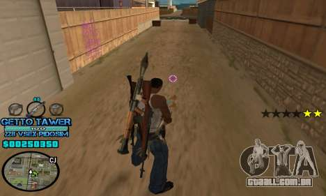 C-HUD Ghetto by Inovator para GTA San Andreas