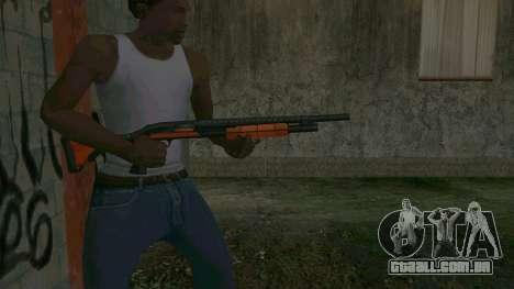 Orange Shotgun para GTA San Andreas terceira tela