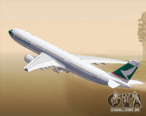 Airbus A330-300 Cathay Pacific para GTA San Andreas vista superior