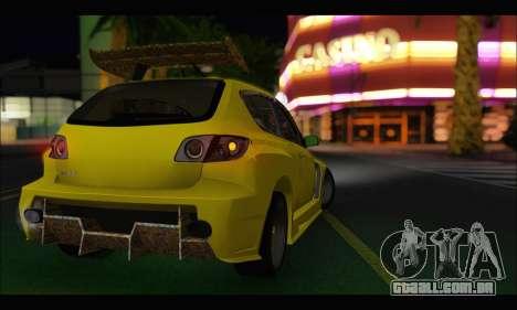 Mazda Speed 3 Tuning para GTA San Andreas traseira esquerda vista