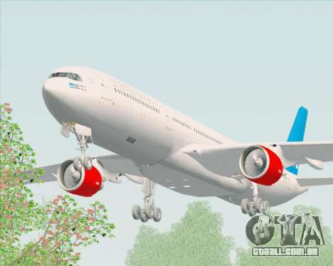 Airbus A330-300 Scandinavian Airlines para GTA San Andreas vista interior