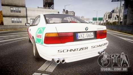 BMW E31 850CSi 1995 [EPM] Castrol White para GTA 4 traseira esquerda vista