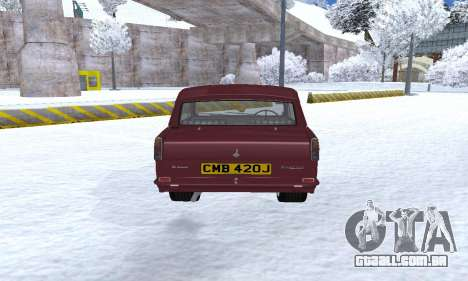 Reliant Regal Sedan para GTA San Andreas vista direita