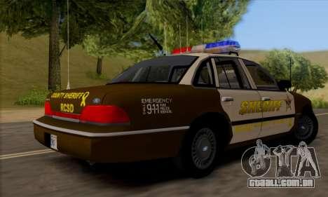 Ford Crown Victoria 1994 Sheriff para GTA San Andreas vista direita