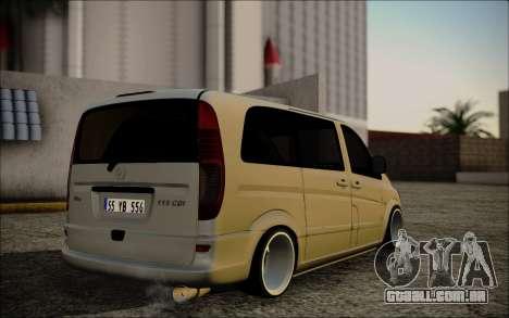 Mercedes-Benz Vito para GTA San Andreas esquerda vista