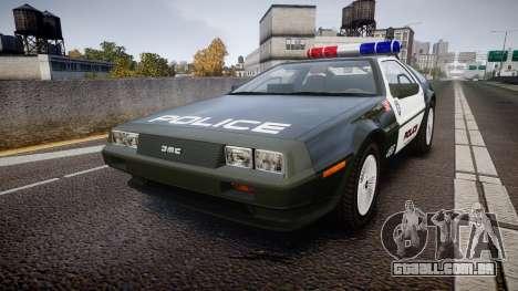 DeLorean DMC-12 [Final] Police para GTA 4