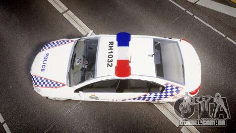 Holden VF Commodore SS Queensland Police [ELS] para GTA 4 vista direita