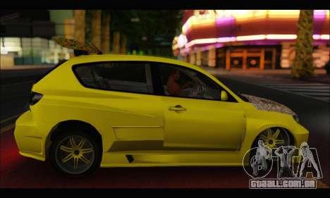 Mazda Speed 3 Tuning para GTA San Andreas vista direita