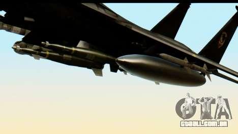 F-15 Razgriz para GTA San Andreas vista direita