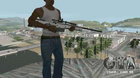 Metal AWP L96A1 para GTA San Andreas segunda tela