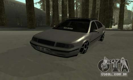 Skoda Octavia Winter Mode para GTA San Andreas vista inferior