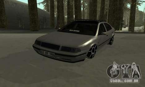 Skoda Octavia Winter Mode para GTA San Andreas vista inferior