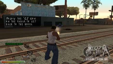 C-HUD Wonderful para GTA San Andreas terceira tela