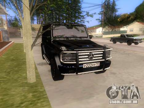 Mercedes-Benz G55 AMG para vista lateral GTA San Andreas