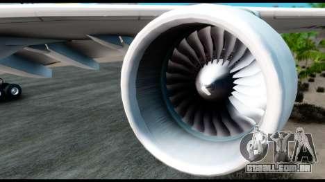 Airbus A380-800 Etihad New Livery para GTA San Andreas vista direita