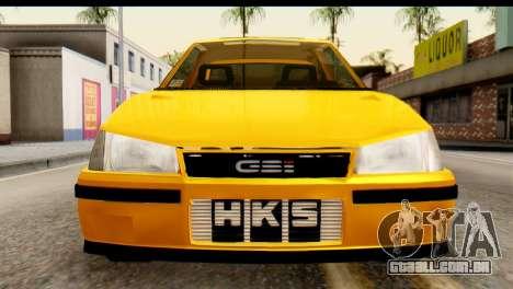 Opel Kadett GSI Drag 2015 para GTA San Andreas vista direita