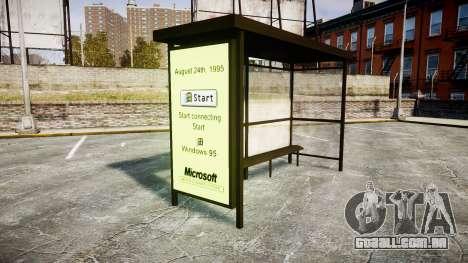 Publicidade Windows 95 em paradas de ônibus para GTA 4 segundo screenshot