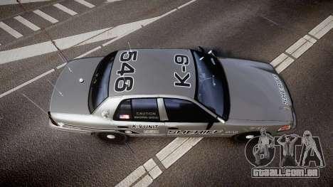 Ford Crown Victoria Sheriff K-9 Unit [ELS] para GTA 4 vista direita